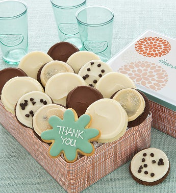 Thank You Gift Tin - 16 Frosted Cookies