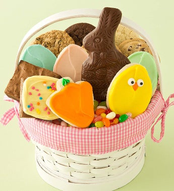 Pink Easter Treats Basket