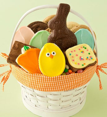 Orange Easter Treats Basket