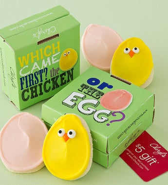 Chick and Egg Cookie Card 2 Pack