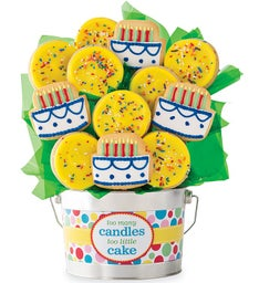 Too Many Candles Cookie Flower Pot