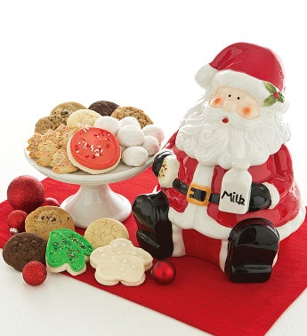 Santa Cookie Jar with Treats