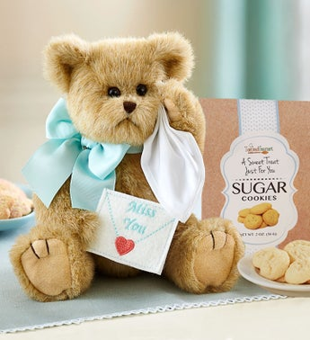 Bearington Miss You Bear With Cookies