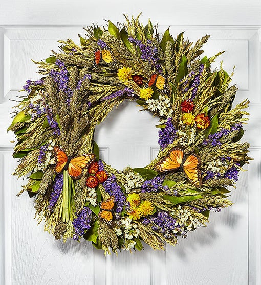 Preserved Butterfly Wreath - 22