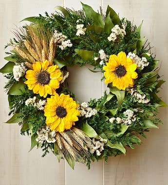 Preserved Sunflower Wreath  16