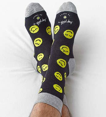 Good Day Smiley Socks for Men or Women