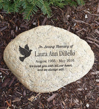 Personalized Engraved Memorial Garden Stone