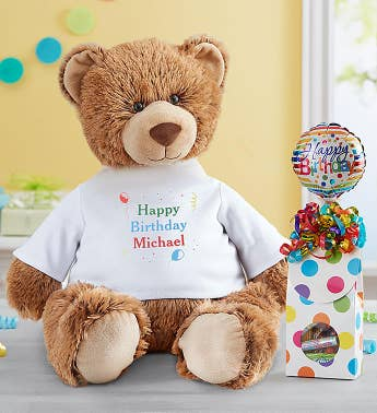 Personalized Tommy Teddy Lets Celebrate