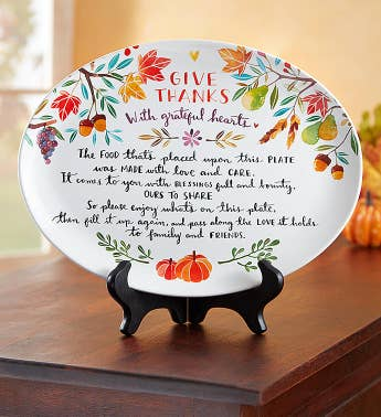 Thanksgiving Giving Plate