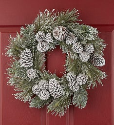 Frosted Winter White Wreath- 24