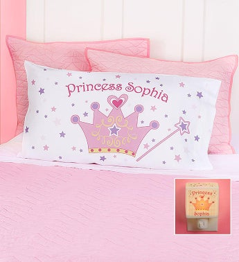 Personalized Princess Pillowcase  Nightlight