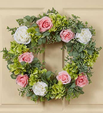 Keepsake Peony and Rose Garden Wreath - 24