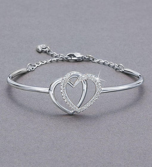 Swarovski® Interlocking Hearts Bracelet