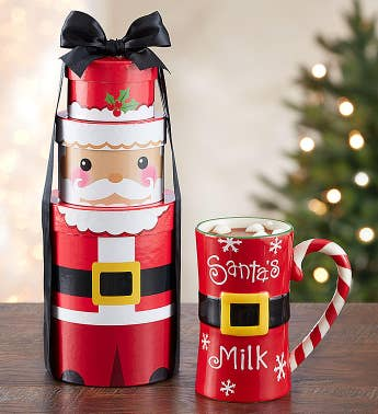 Holiday Cocoa and Cookies Gift Set