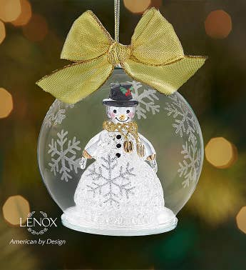 Lenox Color Changing Snowman Ornament