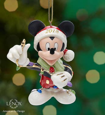 Lenox 2018 Merry  Bright Mickey Mouse Ornament