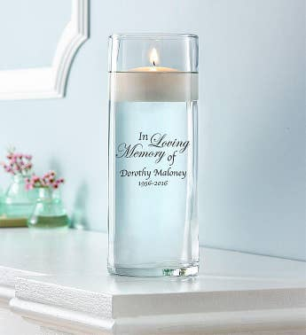 Personalized Sympathy Floating Candle