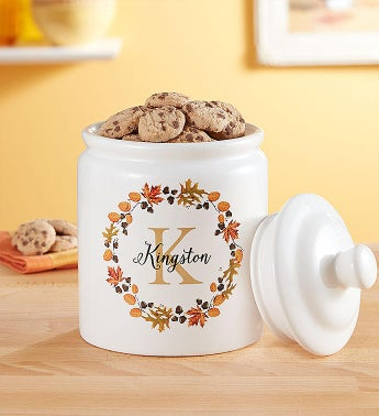 Personalized Fall Cookie Jar  Cheryls Cookies