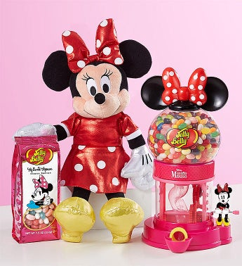 TY Sparkle Minnie and Jelly Belly Bean Machine Gift Set