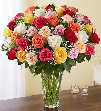 Ultimate Elegance Long Stem Assorted Roses