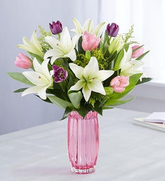 Spring Tulip & Lily Bouquet