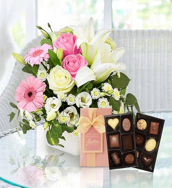Pink Pure Bliss Flowers  Chocolates
