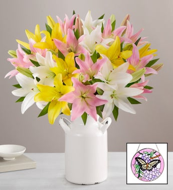 Sweet Spring Lilies for Mothers Day