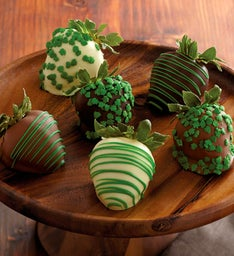 St. Patrick's Day Chocolate-Covered Strawberries - Half Dozen
