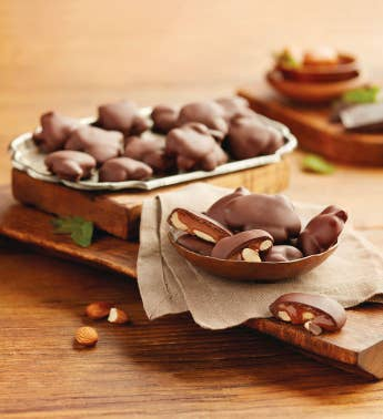 Chocolate Caramel Nut Clusters