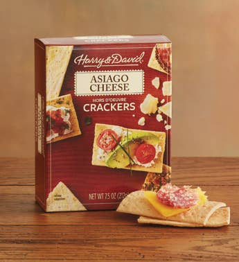 Asiago Cheese Hors D39oeuvre Crackers