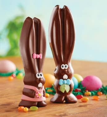 Mr and Mrs Ears Milk Chocolate Easter Bunnies