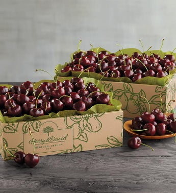 Two Boxes of Early Harvest Plump-Sweet Cherries
