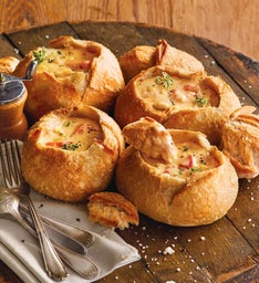 Lobster Corn Chowder and Bread Bowls