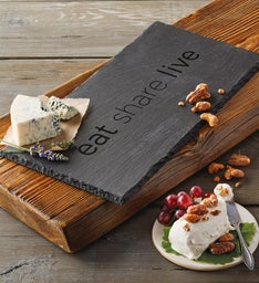 Eat Share Live Slate Board
