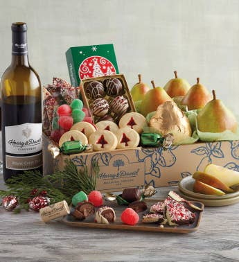 Deluxe Christmas Gift Box with Wine