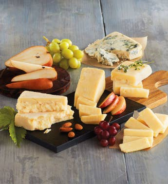 Artisanal Cheeses with Cutting Board