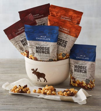 Moose Munch174 Premium Popcorn with Snack Bowl