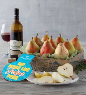 34We Make the Perfect Pear34 Gift with Wine
