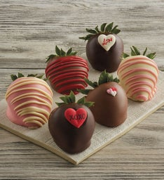 Valentine's Day Hand-Dipped Chocolate-Covered Strawberries - Half Dozen