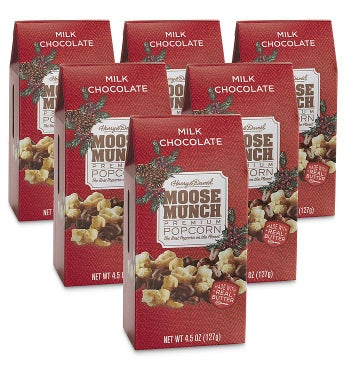 Moose Munch174 Milk Chocolate Premium Popcorn 8211 45 oz 6 Pack