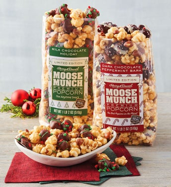 Moose Munch174 Limited Edition Premium Popcorn 8211 Holiday and Peppermint