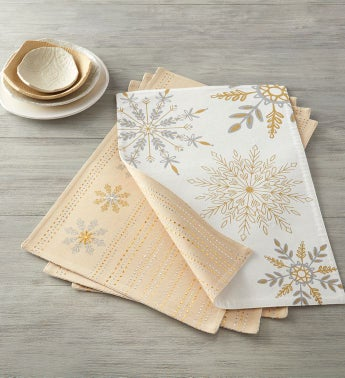 Reversible Snowflake Placemats 8211 Set of 4