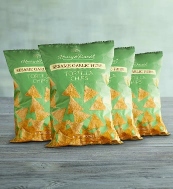 Sesame Garlic Chips - 4 Pack