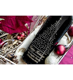 Starry Pine Personalized Wine Bottle