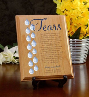 Tears Memorial Wood Plaque