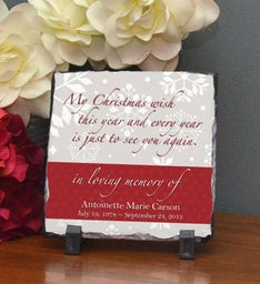 Christmas Wish Stone Plaque