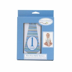 Blue Tie First Year Belly Stickers