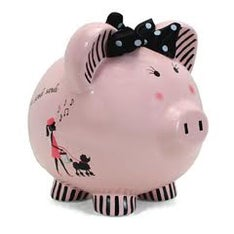 Personalized Hand-Painted Miss Madeline Piggy Bank