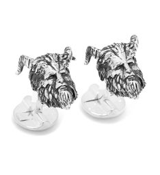 3D Live Action Beast Head Cufflinks