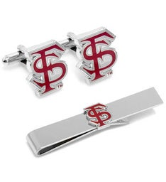 Florida State University Cufflinks and Tie Bar Gift Set